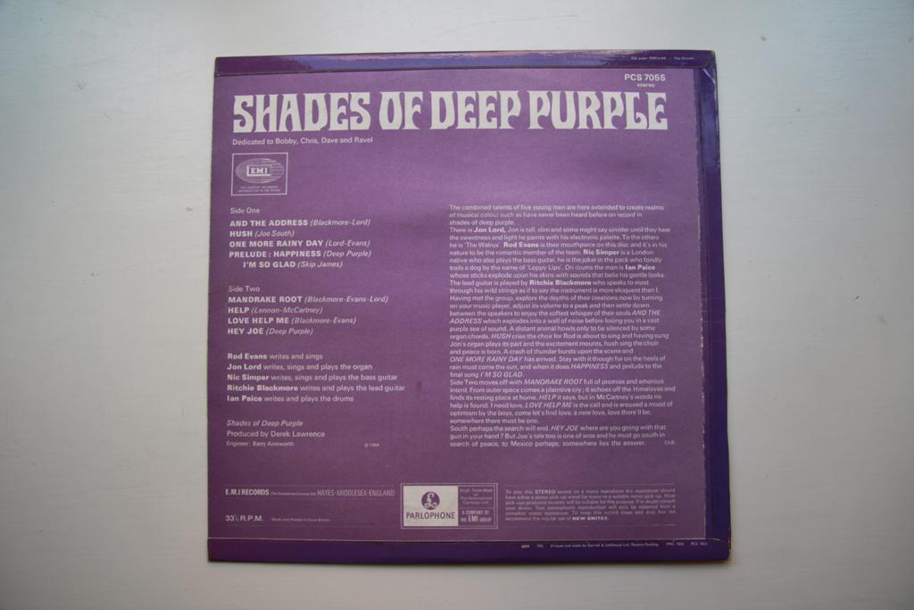 Vinyl Stockholm Deep Purple Shades Of Deep Purple Lp Uk