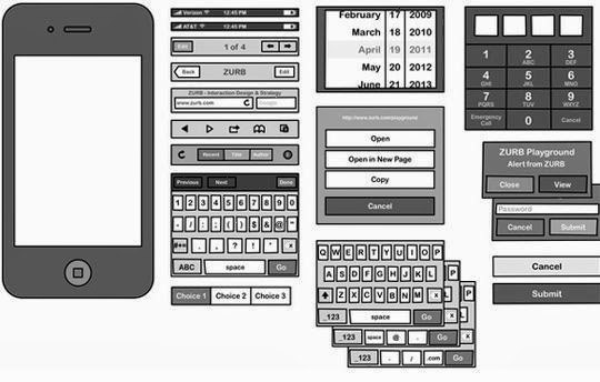 Stencils for Sketching iPhone & Android