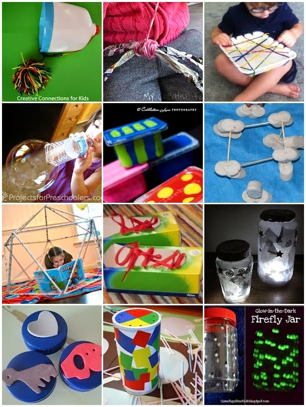 34 Recycled Kids Crafts & Activities