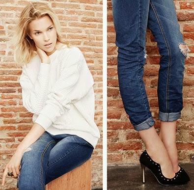 Suiteblanco nova coleção jeans & denim outono inverno calças mulher