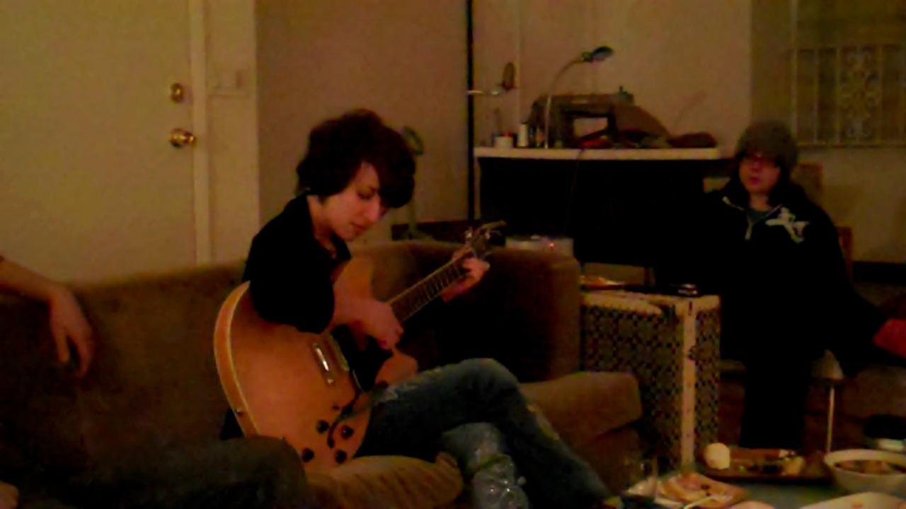 Elyse Playing A House Concert In Brooklyn New York 2011