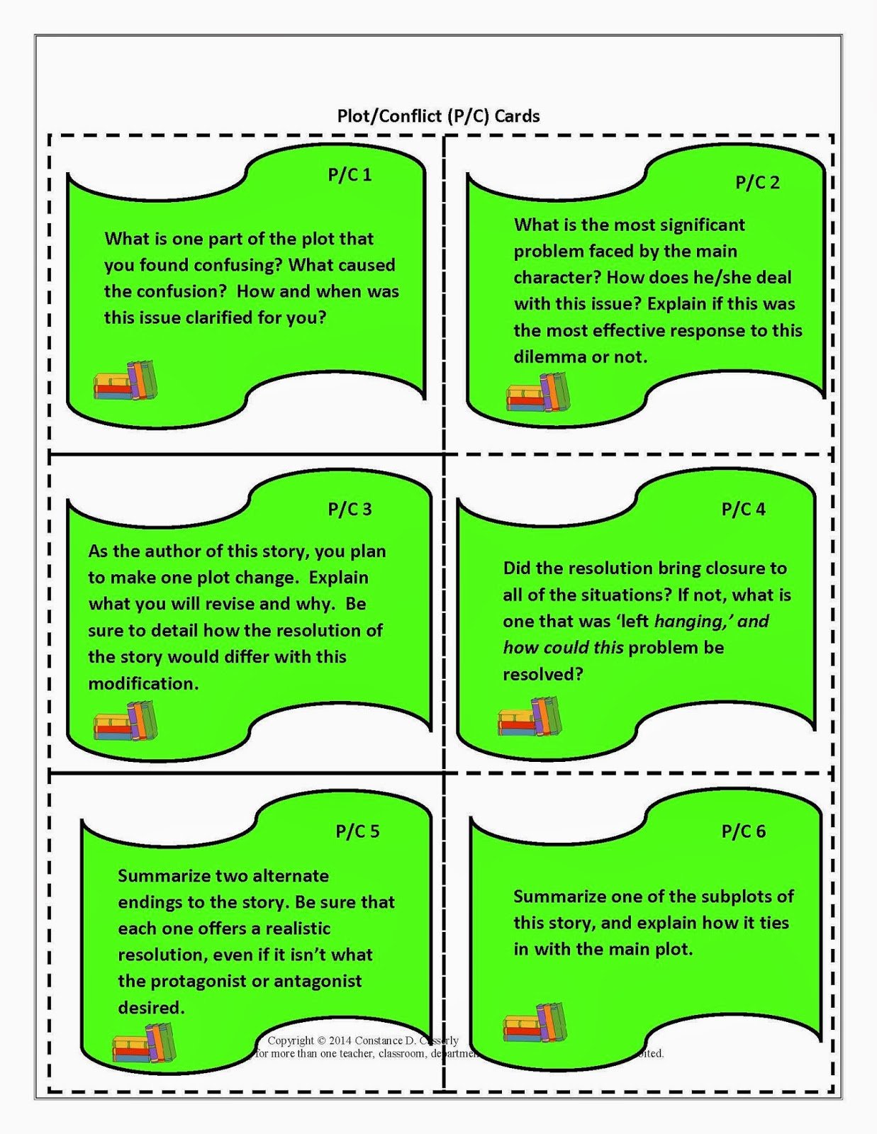 Literature Task Cards-Plot/Conflict