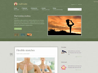 Cultivate - Yoga Joomla Template January 2011