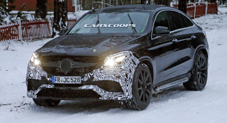 Barely Camo'd 2016 Mercedes-Benz GLE 63 AMG Coupe Scooped