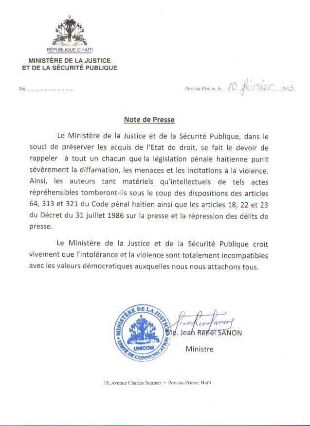 Le r cit r seau citadelle note de presse mjsp se - Coups et blessures volontaires code penal ...