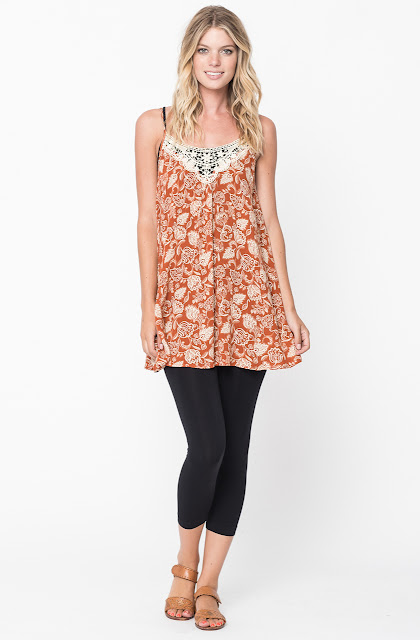 floral tunic tops