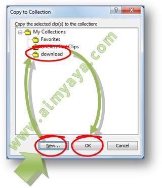 Gambar: Cara menyimpan clip art ke koleksi di Microsoft Word 2007