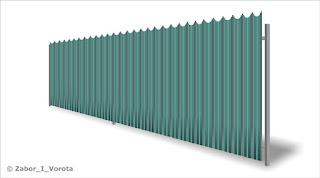 Забор из фигурного профлиста (резная кромка). Фото 22