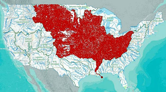 The 7000 Rivers that Feed into the Mississippi River