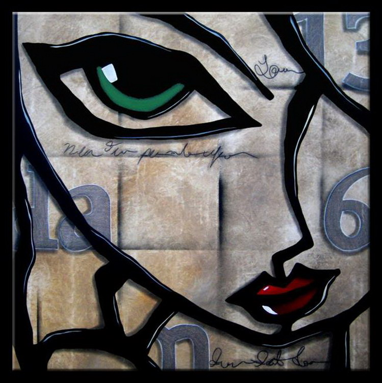 Cuadros pinturas oleos cuadros abstractos de caras for Imagenes de cuadros abstractos faciles
