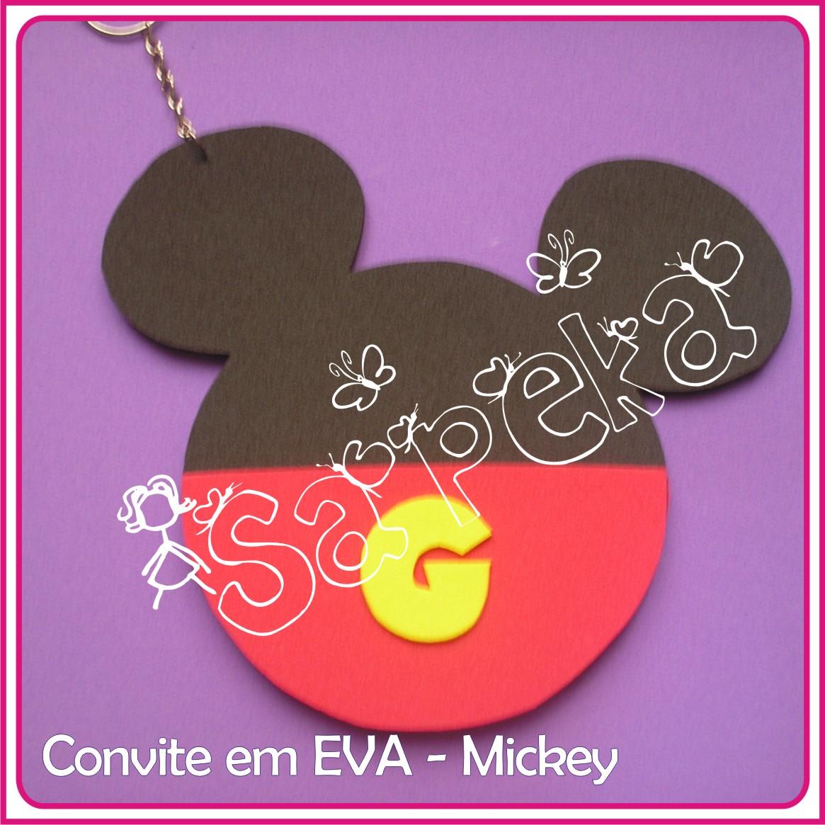Marcadores  Convite   E V A    Mickey Mouse