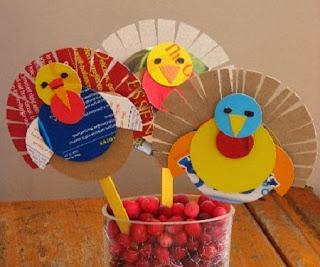 Ideas para Reciclar por Accion de Gracias, Pavos Reciclados, I Parte