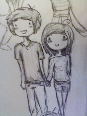 a cute chibi drawing of me and my bf gilbert xd by gir glenda anime