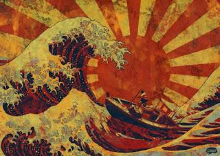 Pinturas surrealistas creadas con sangre real - Terremoto de Japón