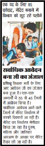 72825 & 29334 UP Basic Board UPTET Teachers Bharti Latest News As On 27th August, 2014