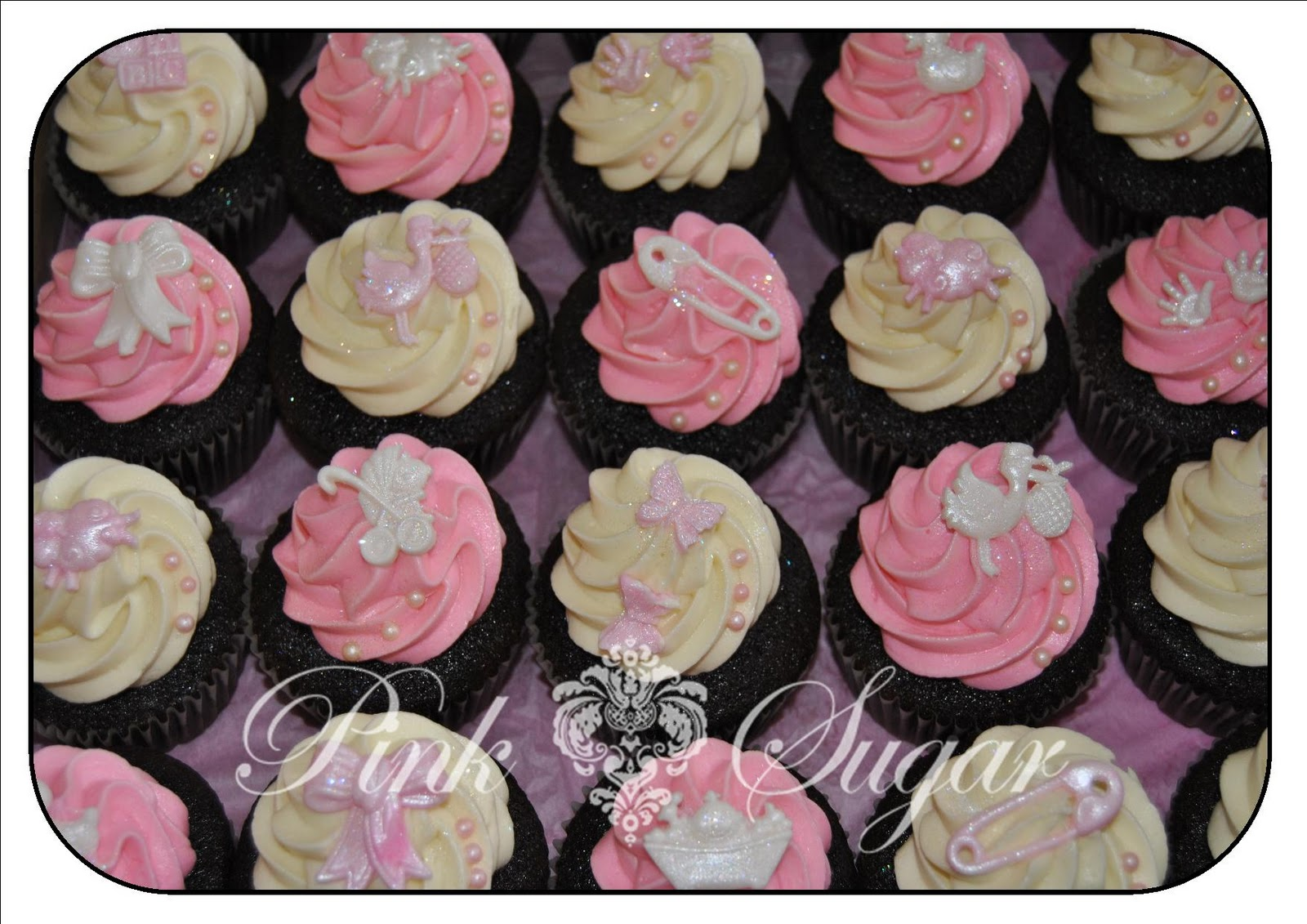 Baby shower cupcakes - Girl baby shower cupcake ideas ...