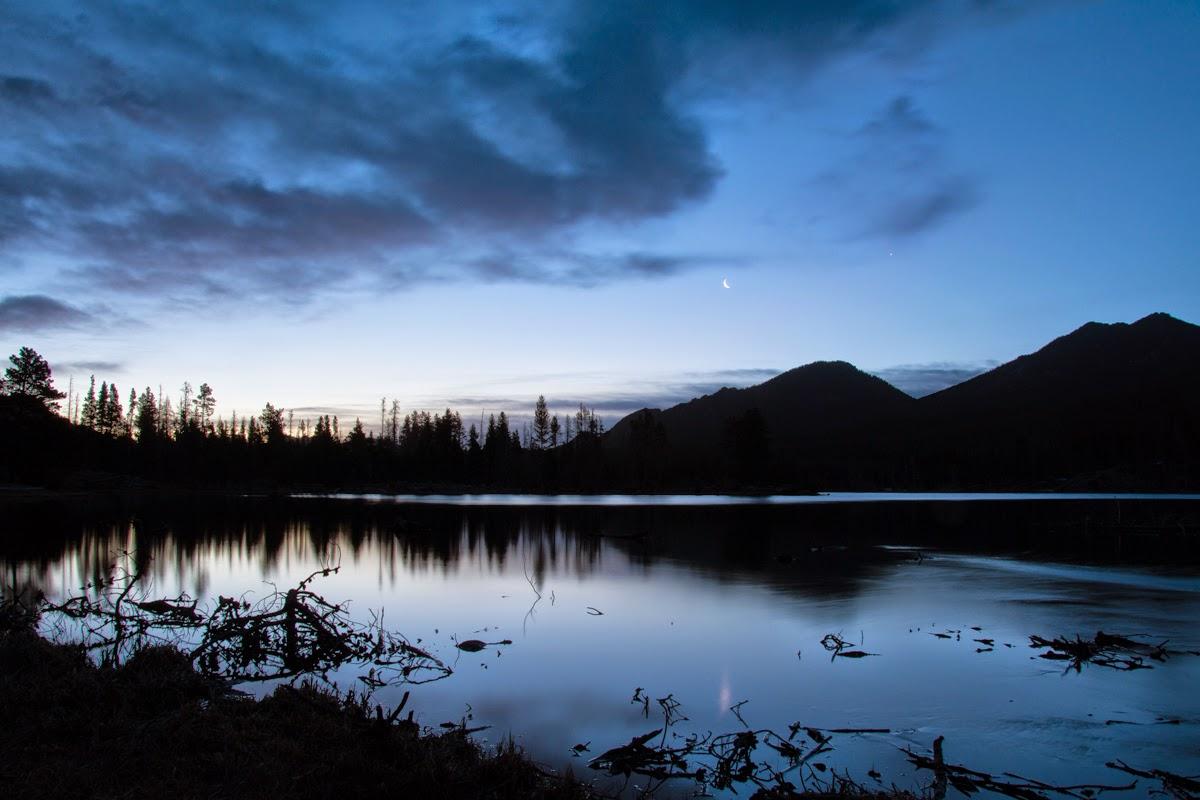 Sunrise at Sprague Lake, Rocky Mountain National Park
