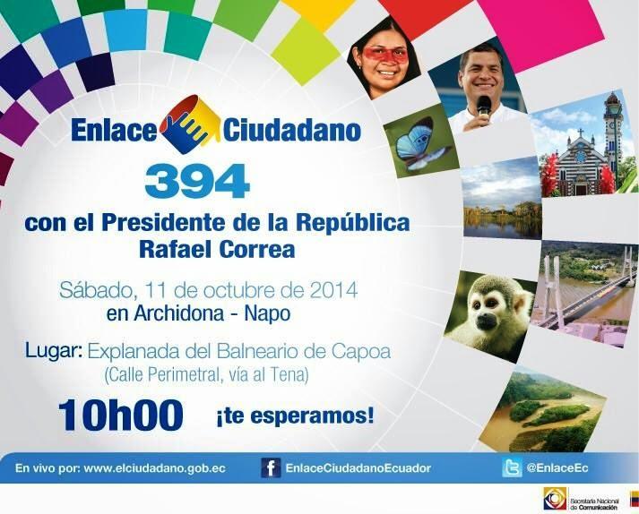 Sabatina de Rafael Correa del 11 octubre 2014