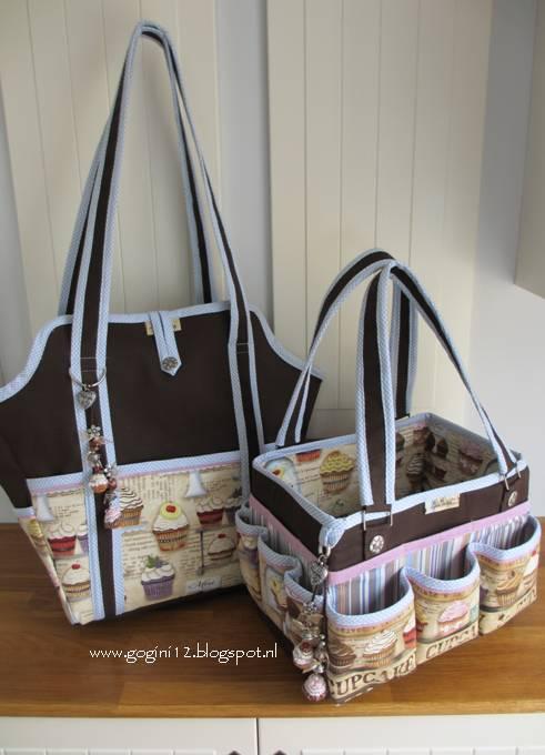 Grote Tas Maken : Gogini vintage cupcake set