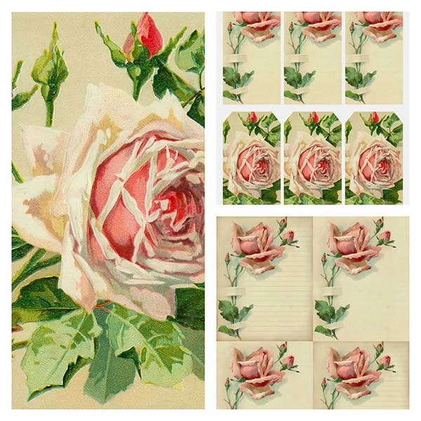 vintage rose, vintage roses, printable, tag, journal tag, journaling, atc, vintage clip art