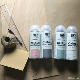DIY GUIRNALDA MADERA CHALK PAINT SPRAY