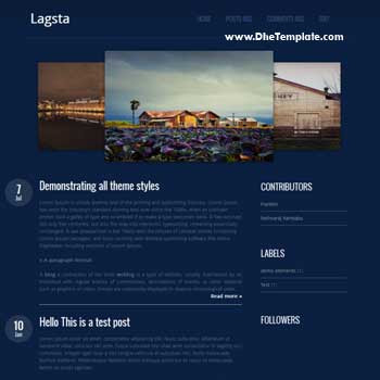 Lagsta blogger template.image gallery featured content blogger template