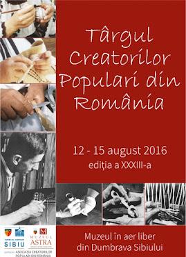 Târgul Creatorilor Populari din România, ed. a XXXIII-a