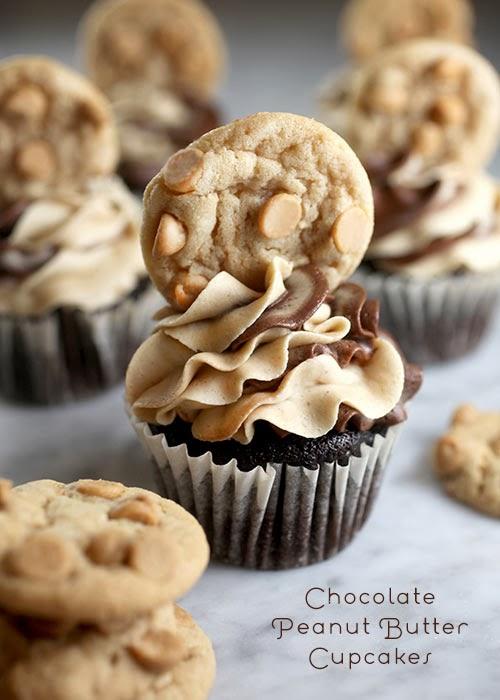 Chocolate Peanut Butter Cupcakes, Chocolate, Cupcakes