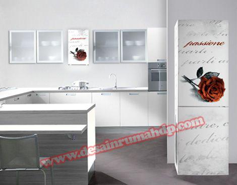 Gambar Desain Dapur Minimalis Modern Dengan Kulkas