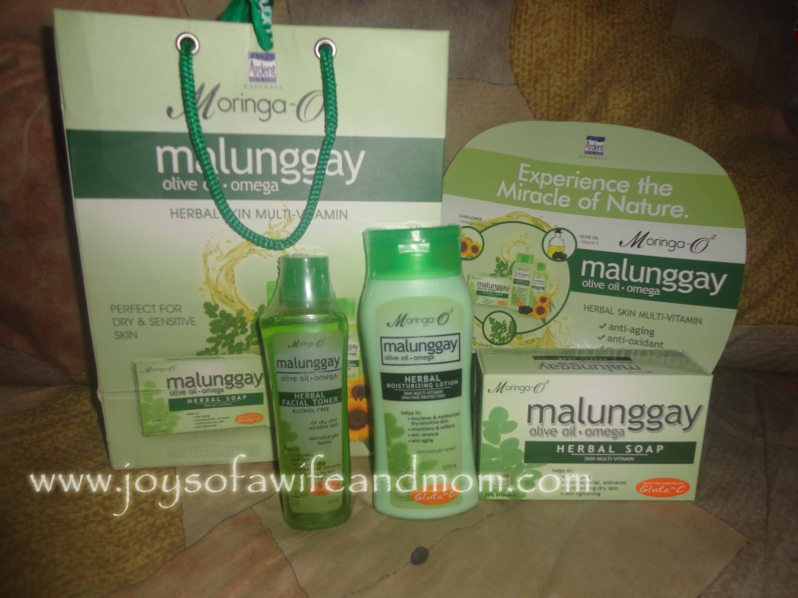 Moringa O2 Herbal Facial Toner, Herbal Lotion and Soap
