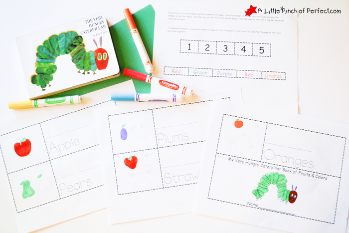 image regarding Printable Book known as The Amazingly Hungry Caterpillar Printable Coloration-Produce-Browse E-book -