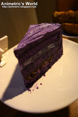 Purple Yam Cake with Macapuno and Red Bean at Starbucks