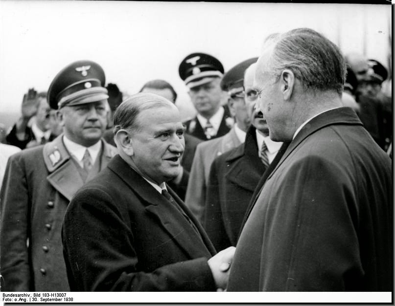 Daladier France Prime Minister 1938 Munich