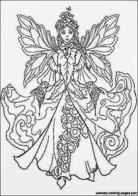 earth fairy coloring pages - photo#23