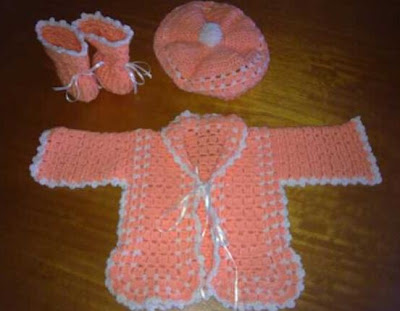 Conjunto Bebe En Crochet