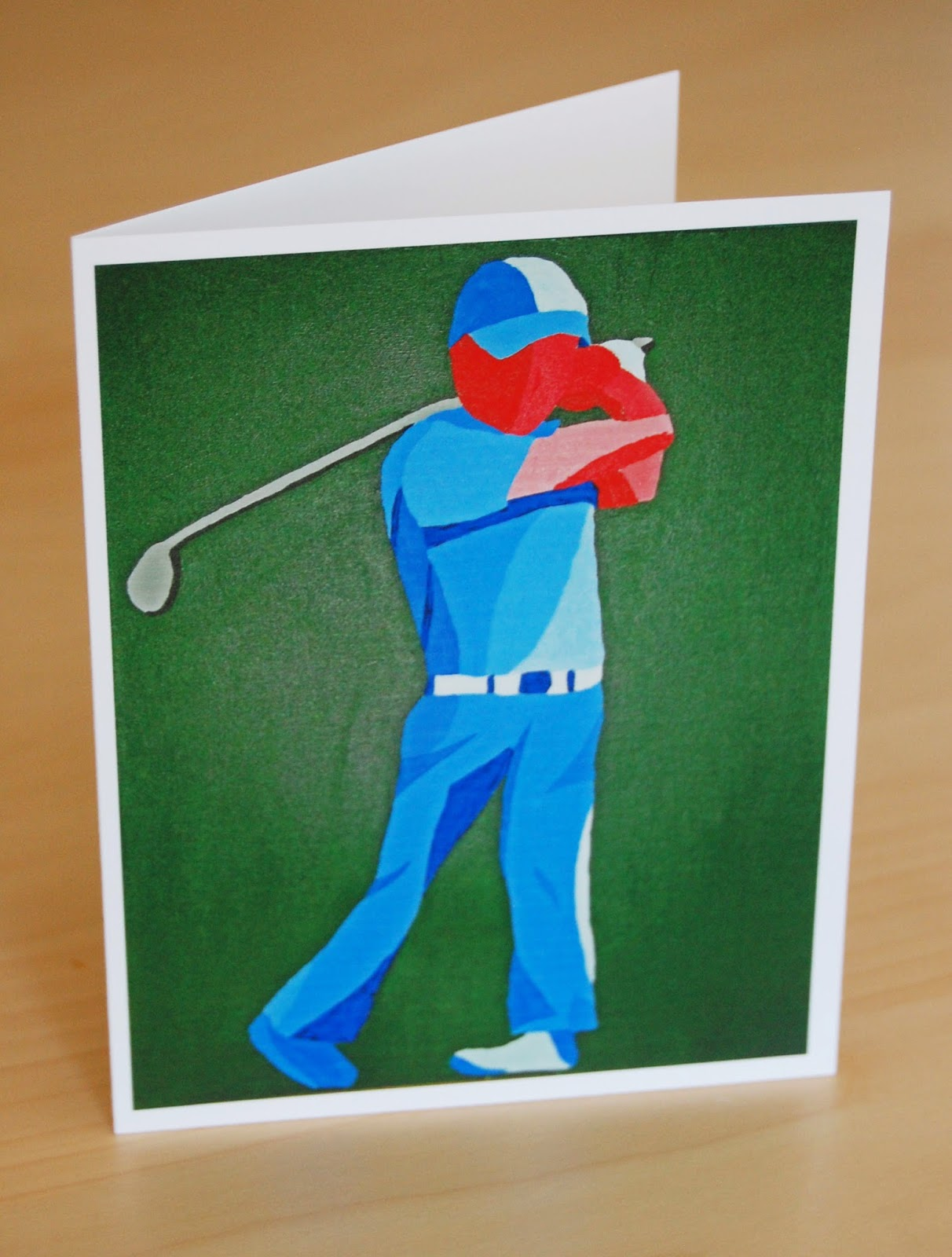 Golf Note Card