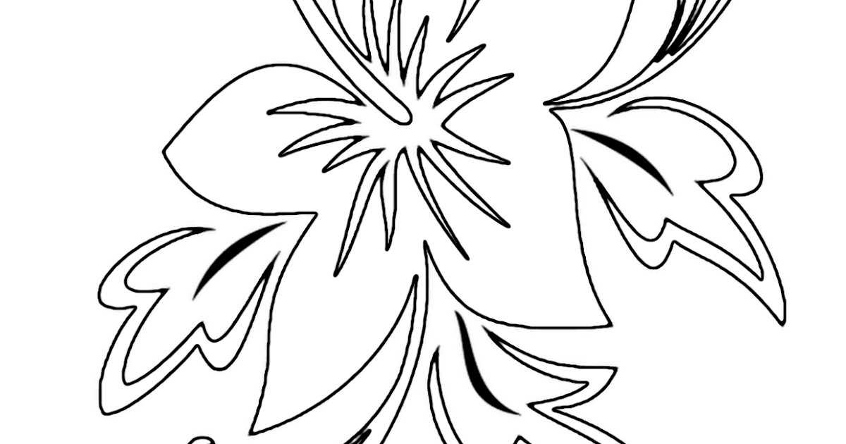 Tropical flower coloring pages flower coloring page for Tropical coloring pages