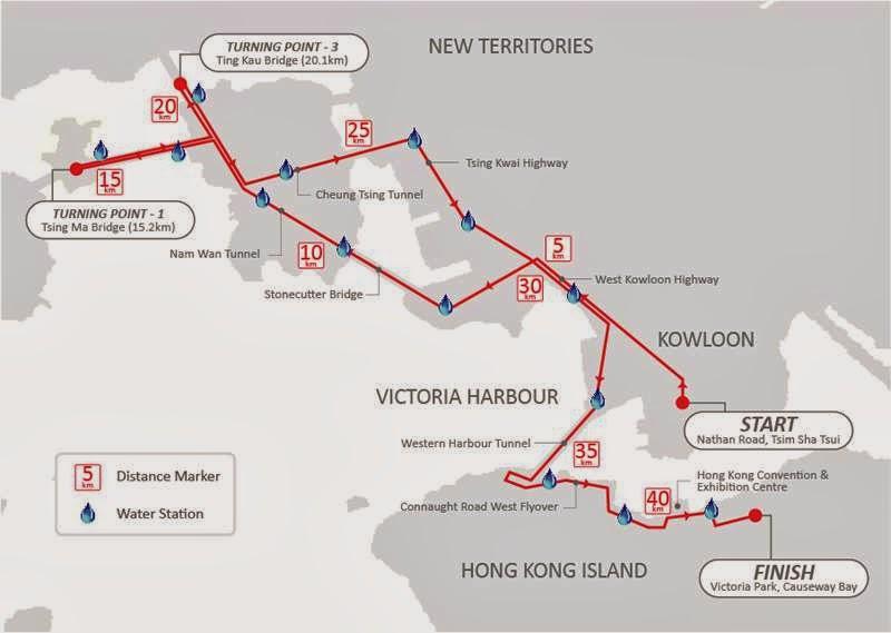 Hong Kong Marathón Course