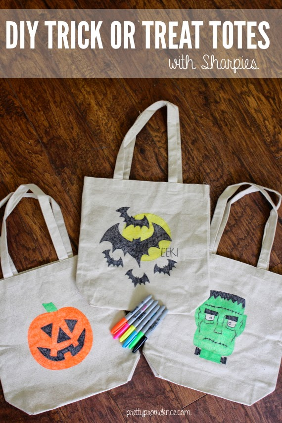diy trick or treat tote bags pretty providence