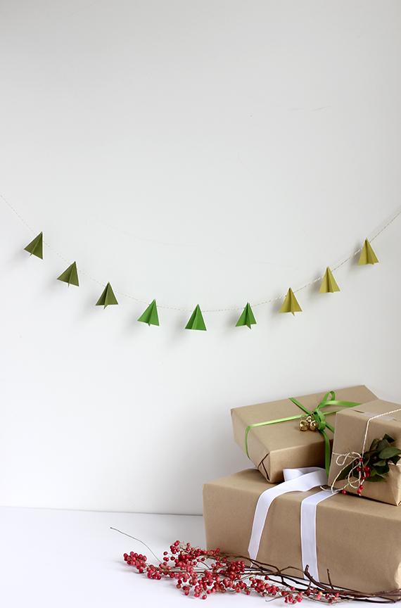 Decoração de Natal: Cordão de enfeite feito com papel