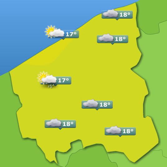 Weerbericht West-Vlaanderen