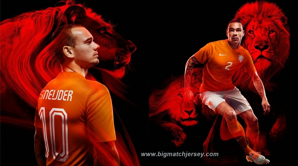 Netherlands 2014 World Cup Home  Jersey