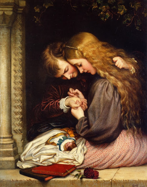 the thorn,charles west cope,victorian painting