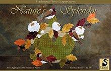 """Natures Splendor Wool Applique Wallhanging 14"""" x 24"""""""