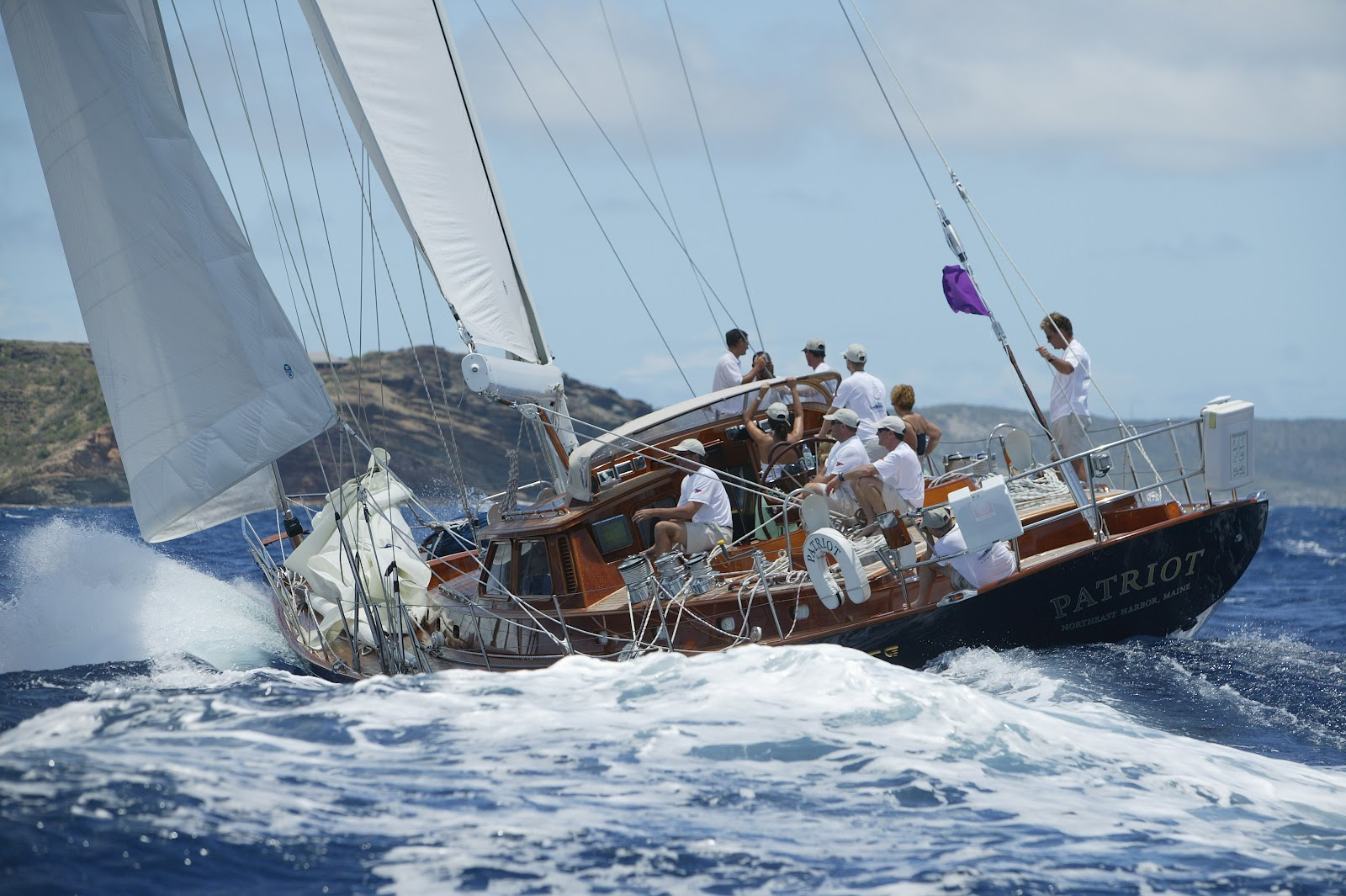 Many people view it as the prettiest large Hinckley sailing yacht ever built ...