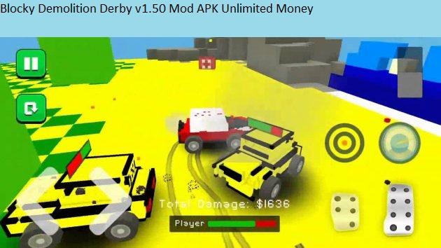 Blocky Demolition Derby v1.50 Mod APK Unlimited Money
