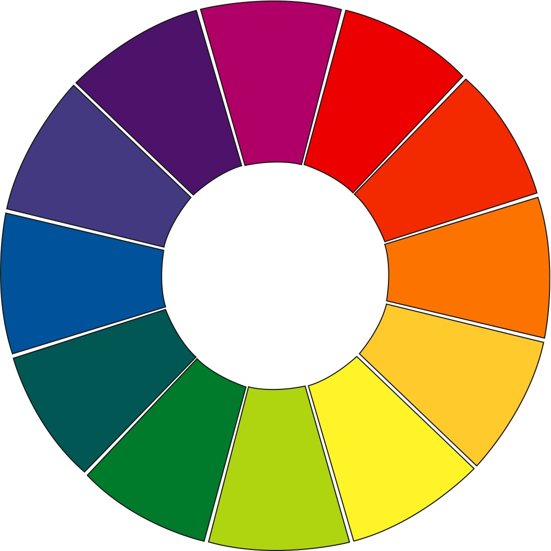 Primary Color Wheel Template To pick colors that will