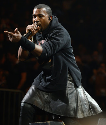 Kanye West wears a skirt