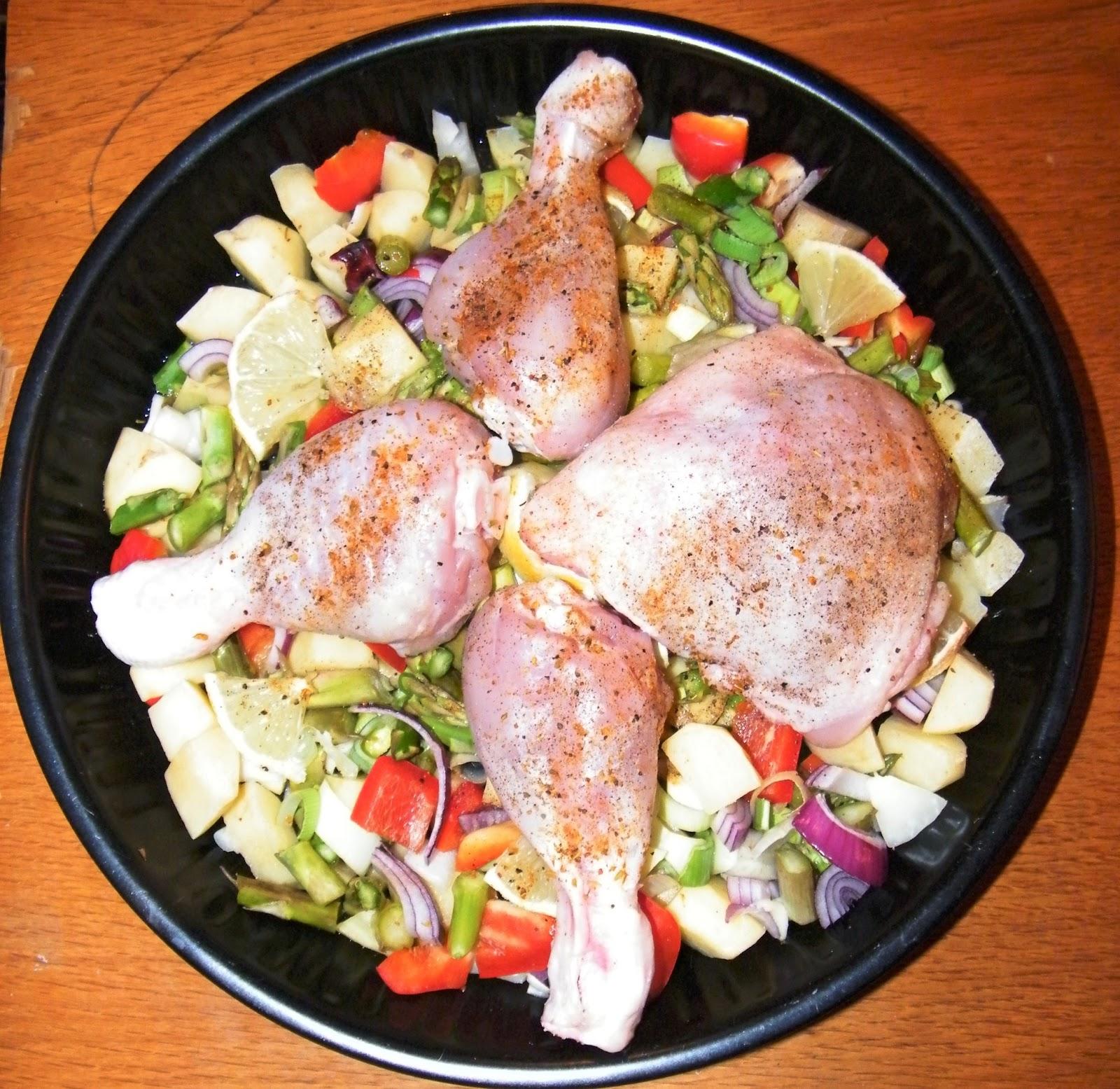 Comer rico y sano: Patatas y verduras al horno - photo#18