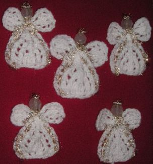 Knitting Pattern Angel Ornament : Knitting Galore: Angel Tree Ornament
